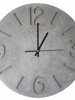 Large Concrete Wall Clock (400mm)