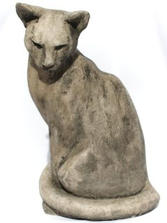 Life size sitting cat sculpture