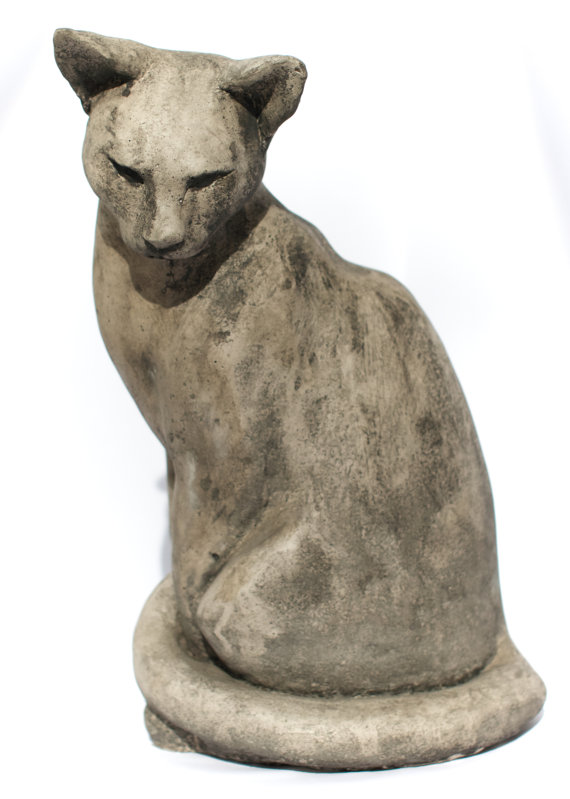 Life Size Sitting Cat Sculpture. For Garden Or Indoor Display. Cat Sculpture.  Cat Ornament. Garden Sculpture