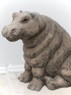 Stone Hippo sculpture
