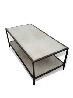 stainless steel and concrete coffee table v2
